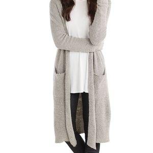 Mudpie long duster super soft cardigan grey